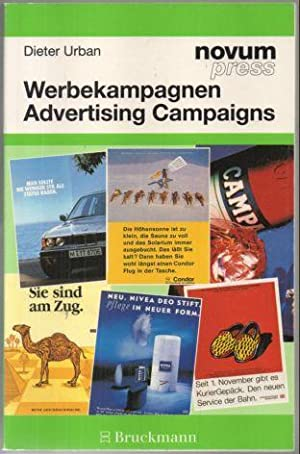 Werbekampagnen. Advertising campaigns. Text deutsch und englisch.