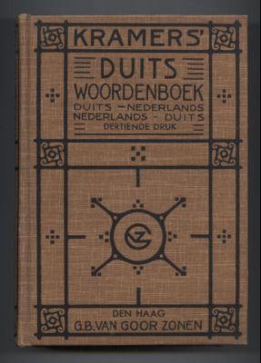 Kramer's Duits Woordenboek. Duits - Nederlands. Nederlands: Kroes, H.W.J.