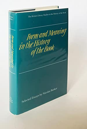 Form and Meaning in the History of the Book