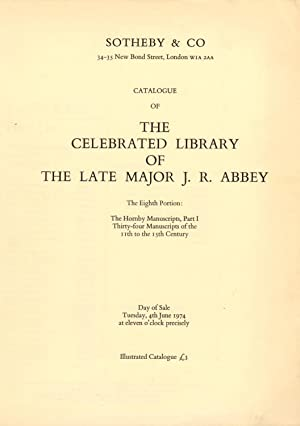Catalogue of the Celebrated Library of The Late Major J. R. Abbey. The Eighth Portion: The Hornby...
