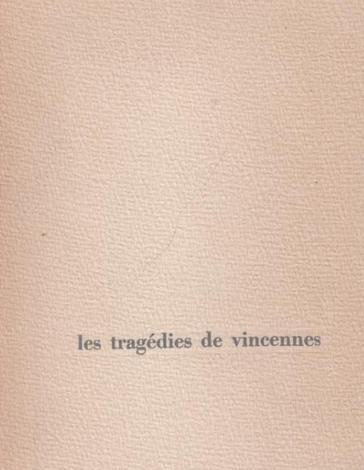 Les_tragédies_de_Vincennes_HURTRET_André_Très_bon_Couverture_souple