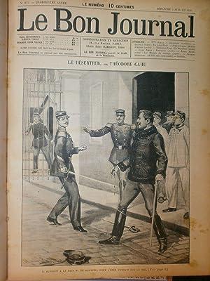 Reliure Le Bon Journal 27e volume 2e Semestre 1898 du Numéro 1277 3 juillet 1898 au numéro 1328 29 ...
