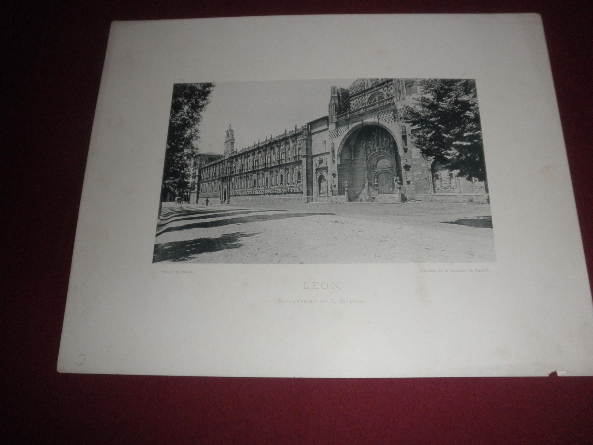 Monasterio de San Marcos. Leon. Fototipia en blanco y negro de Leon ...