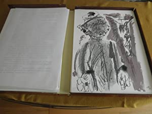 Lazarillo de Tormes con 20 ilustraciones del pintor Alvaro Delgado, reproducidas en Serigrafia, ...