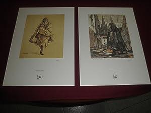 Carpeta conteniendo 8 litografias con obras del artista: Segundo Calixto Escolar Diez