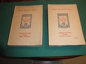 La España del Cid. Dibujos de Pedro Muguruza. 2 Volumenes. 1ª edicion: Ramon Menendez ...