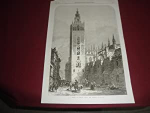 A Street in Seville, Spain: The Giralda. The illustrated London News. Huecogrbado