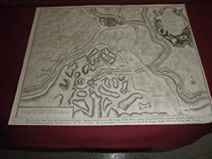 Plan of the battle of Saragosse,fought August 9,1710,between the troops of the Allies under Dient...