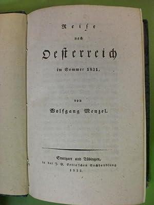 Reise nach Oesterreich im Sommer 1831.: Menzel, Wolfgang