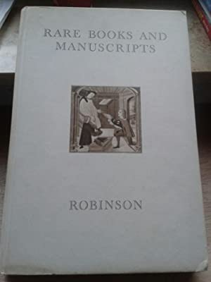 Catalogue 83. rare Books ans Manuscripts. Offered for Sale by William H. Robinson.