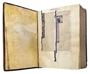 VULGATE BIBLE; illuminated thirteenth-century manuscript on parchment with historiated initials s...
