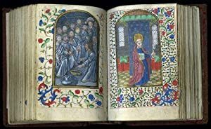 Prayer Book; illuminated manuscript on parchment with 34 large semi-grisaille miniatures and 5 sm...