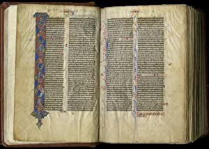 Vulgate Bible; illuminated manuscript on parchment, in Latin