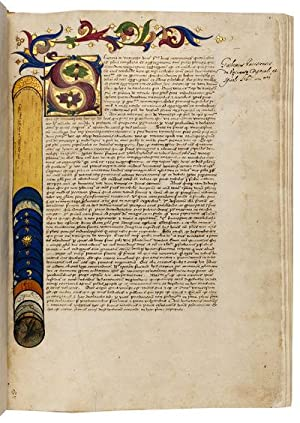 WILLIAM OF AUVERGNE, De universo; In Latin, illuminated manuscript on paper; Northern Italy, c. 1...