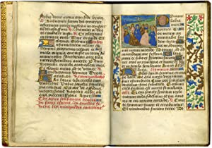 BOOK OF HOURS (USE OF CAMBRAI); illuminated manuscript on parchment, in Latin and French