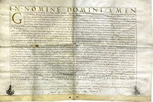 Doctoral Diploma of the University of Rome; decorated document on parchment, in Latin
