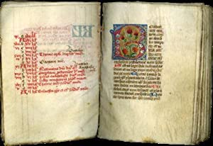 Psalter (use of the Celestines) illuminated manuscript on parchment in Latin