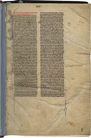 Vulgate Bible; in Latin, decorated manuscript on parchment