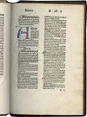 Tabula super Summam theologicam of Anthony of Florence [imprint]; with two manuscript sections:Ta...