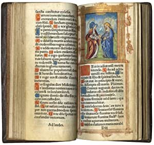 Printed Book of Hours (Use of Rome); in Latin and French, illuminated imprint on parchment