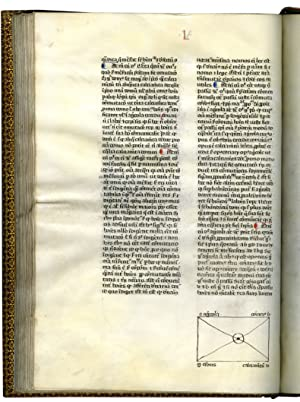 LIBER SUPER ETHICORUM ARISTOTELIS (Commentary on the Ethics of Aristotle);Illuminated manuscript ...