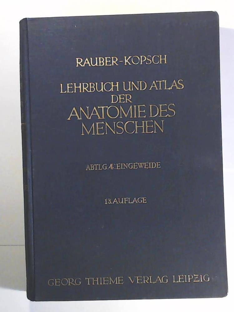 lehrbuch und atlas von rauber kopsch - ZVAB