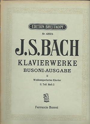 Edition Breitkopf 4302b - Bach -Klavierwerke -: Ferruccio Busoni