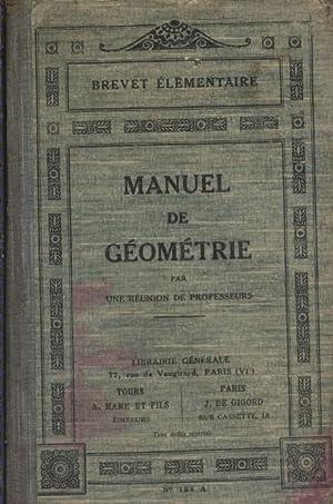 Manuel de géométrie. Par une réunion de: UNE REUNION DE