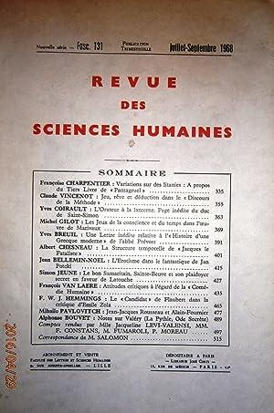 Revue des sciences humaines n° 131. Publication: Collectif : REVUE