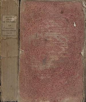 Siècle de Louis XIV. En 2 volumes.: VOLTAIRE