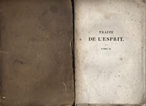 Traité de l'esprit. 2 volumes.: HELVETIUS