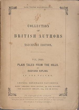 Plain tales from the hills.: KIPLING Rudyard