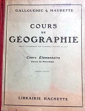 Cours de géographie. Cours élémentaire.: GALLOUEDEC L. -