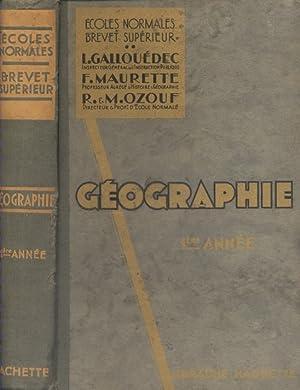 Géographie générale. A l'usage des écoles normales,: GALLOUEDEC L. -