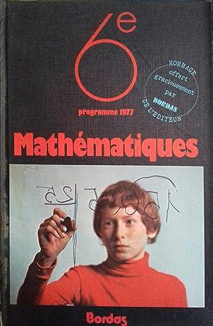 Mathémathiques 6e. Programmes 1977.: BLAQUIERE Geneviève -