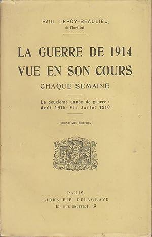 La guerre de 1914 vue en son: LEROY-BEAULIEU Paul