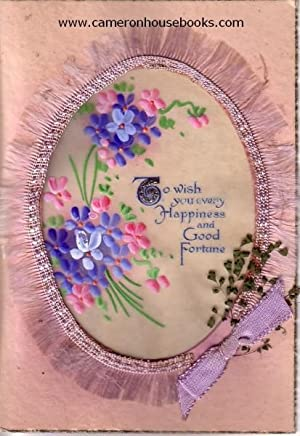 'To wish you every Happiness and Good Fortune' - vintage greeting card