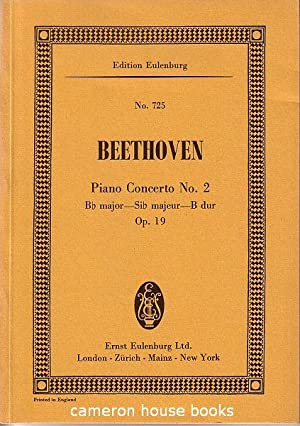 Miniature score. Concerto No.2 in b flat: Beethoven, Ludwig van