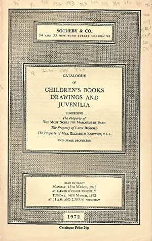 Catalogue of Children's Books, Drawings and Juvenilia, 13th / 14th March 1972