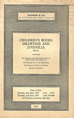 Children's Books. Drawings and Juvenilia. Part A. 2nd / 3rd June 1975