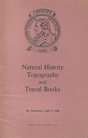 Catalogue of Natural History, Topography and Travel Books. April 3 1968