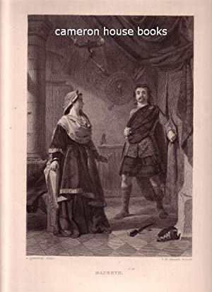 Macbeth. Steel engraving. [Macbeth with his wife, the dagger at their feet] Engraved by C W Sharpe ...