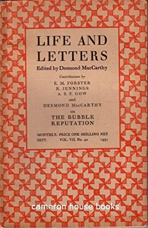 Voltaire's Laboratory [17pp] in Life & Letters,: Forster, E M
