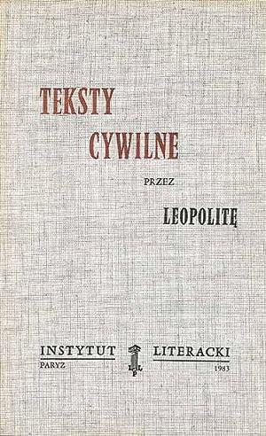 Teksty Cywilne Przez Leopolite Iberlibro