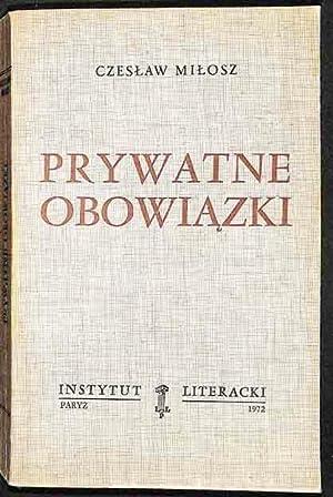 Prywatne Obowiazki: Milosz, Czeslaw