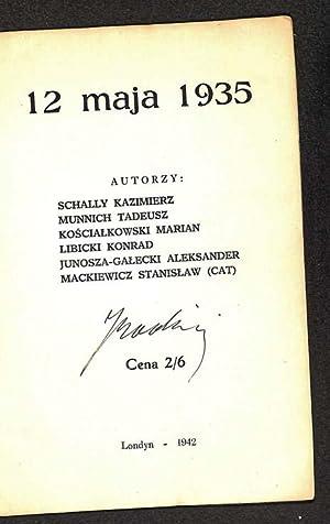 12 maja 1935: Schally Kazimierz [et al]
