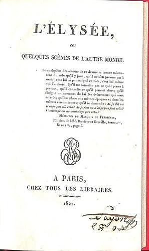 L'Élysée, ou Quelques scènes de l'autre monde.: ( Mimaut, Jean-François) , Édité comme ...