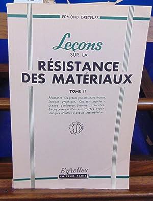 Leçons sur la résistance des matériaux : DREYFUSS