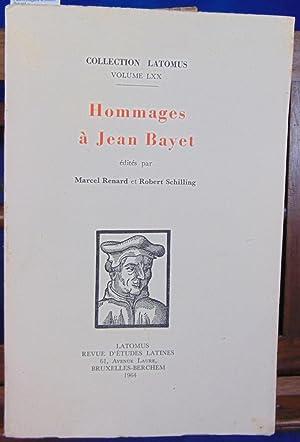 Hommages à Jean Bayet édités par Marcel: Bayet