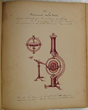 Cosmographie - A scarce richly illustrated unpublished: Instruments scientifiques, astronomie,